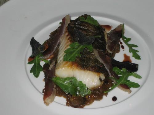 Alaskan Black Cod, green tomato jam, duck prosciutto, crispy sage