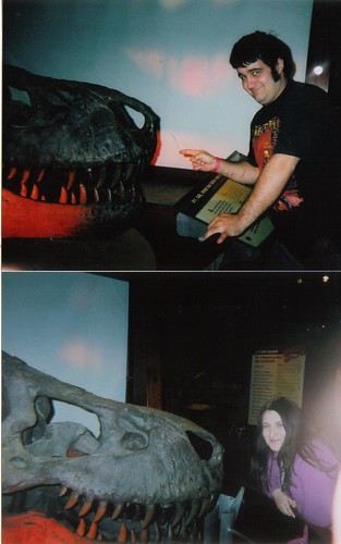 Doug and I last year at the t rex exhibit