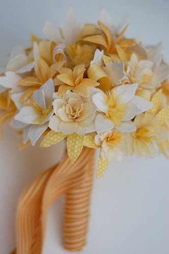 Completed bouquet, ready to ship off to Martha Stewart Weddings