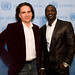 Peter Buffett and Akon at the United Nations