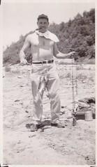 Handsome fisherman 2 (paws22) Tags: fish man water fishing fisherman dam snapshot pipe smoking pole rod catch smoker pipesmoker
