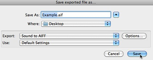 Save exported file as…