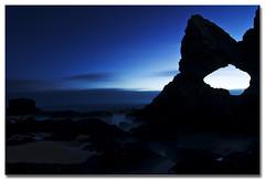 Australia Rock, Wagonga Head (Narooma) - predawn (The Sage of Shadowdale) Tags: ocean longexposure morning blue sky water sunrise d50 dawn early sand rocks waves australia tokina nsw predawn narooma 1224mmf4 eurobodalla bestofaustralia ghostwater
