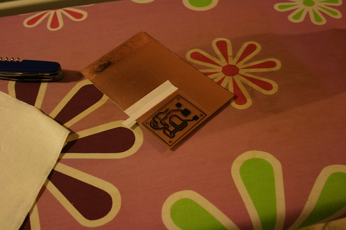 Making PCBs at home, Attempt 2: Stick it down