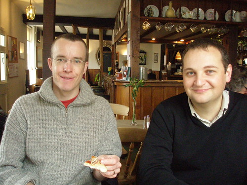 Michael and Steven, The Angel, Lavenham