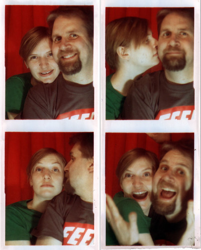 Erica and Fuzzy in a photobooth