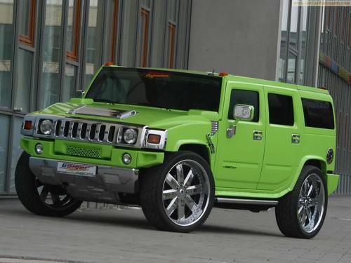 Hummer_H2 Maximum Green Kompressor GeigerCars 2005,car, sport car