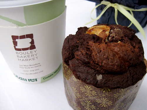 "Three-Chocolate ""Muffin"" at Bouley Bakery"