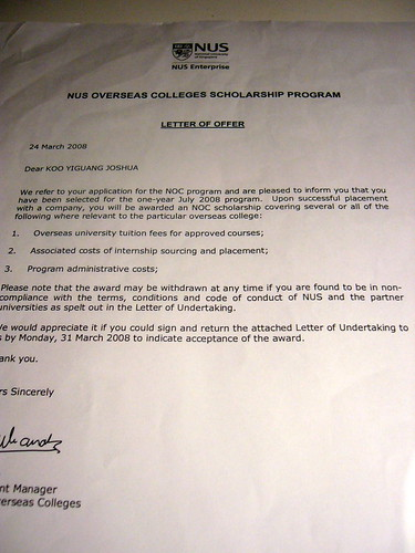 NOC Scholarship Offered