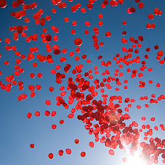 Red balloons (Jakob E) Tags: blue red catchycolors balloons denmark balloon demonstration strike odense foa catchycolorsred catchycolorsblue canon400d strejke redforthepeopleofburma flerehnder
