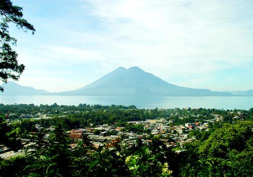 Overlooking Panajachel and Lake Atitlan