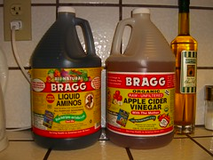 two gallons of Bragg goodness