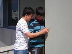 mesurant l'orientació de la façana