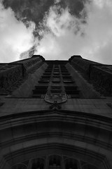 Imposing Entrance (coolname_tmac) Tags: blackandwhite building clouds connaught