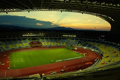 The Main Venue, Sultan Mizan Stadium (SUKMA XII 2008, Terengganu) (Fadzly @ Shutterhack) Tags: city travel vacation holiday hot sports nature d50 landscape asian interestingness nikon asia published angle stadium natureza natur wide beijing natuur natura malaysia tropical vista tropic olympic olympics scape paysage  tamron 2008 xii asean  terengganu equator humid landschap publish mys sukan   maleisi charakter  sukma architeccture explored  olimpik nikonstunninggallery tamronspaf1750mmf28xrdiiildasphericalif kalikasan shutterhack sultanmizan mainvenue