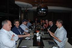 SEMs having dinner at Edgewater Hotel
