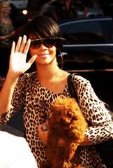 rihanna edited ({morgan.haha.}) Tags: dog oliver with celebrities rihanna rihannawithdog