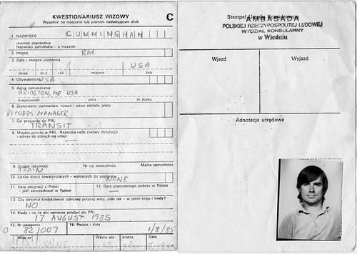 Polish Visa 1985