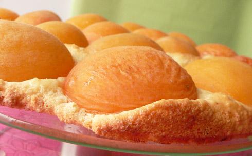 Flacher Aprikosenkuchen
