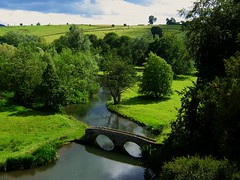 The View from the Terrace at Haddon Hall (UGArdener) Tags: trees summer england green english rose garden village unitedkingdom britain derbyshire peaceful summertime elizabethan pastoral bakewell haddonhall rowsley stonebridge haddon summerafternoon wyeriver rnbderbyshirewye englishtravel