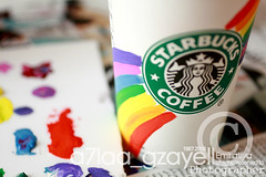 Rainbow+Starbucks=Love (zll  RAINBOW !) Tags: pink blue red orange green love cup coffee colors yellow canon lens 50mm rainbow friend purple you tags it best pearls miss ever loved f25 lish shai mno     maba kaify aslo srarbucks 400d  akthar y7e6 wallla zll a7laagzayell  agddr a7e6 taaaggg baskommineltagsp mshakll 3gbiiii  misssssed lifetravel
