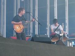 Radiohead - Thom & Jonny (Catlouise) Tags: music june outdoors live gig thomyorke radiohead 2008 oldtrafford 29th kida okcomputer hailtothethief jonnygreenwood therethere amnesiac lccc thebends inrainbows lastfm:event=435917