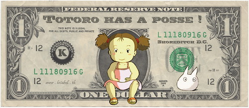Totoro Girl Dollar - by KrieBeL