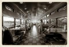 Streetcar diner (view[  ]finder) Tags: bw ontario canada restaurant diner rosemont transit streetcar tone hdr selenium photomatix alienskin sigma1020mmf456exdchsm tomfredaphotography