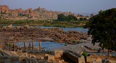hampi, india (sami kuosmanen) Tags: india river temple photography ruins asia foto geology shiva hampi unseen vijayanagara