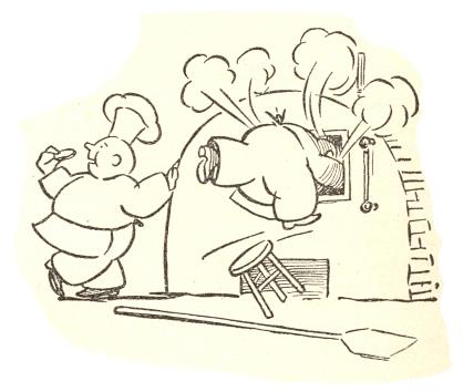 cartoon oven