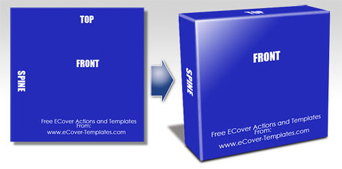 free software cover box / ebox- square shape
