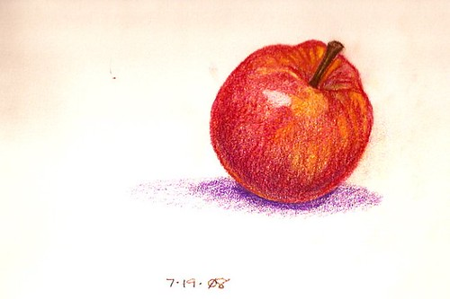 Colored Pencil Sketch - Apple