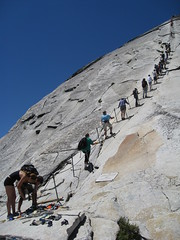 Half Dome Cables (thefost) Tags: california park ca climb hike cables national yosemite dome half summit ropes