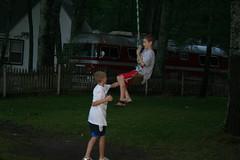 Matthew and Jon swinging