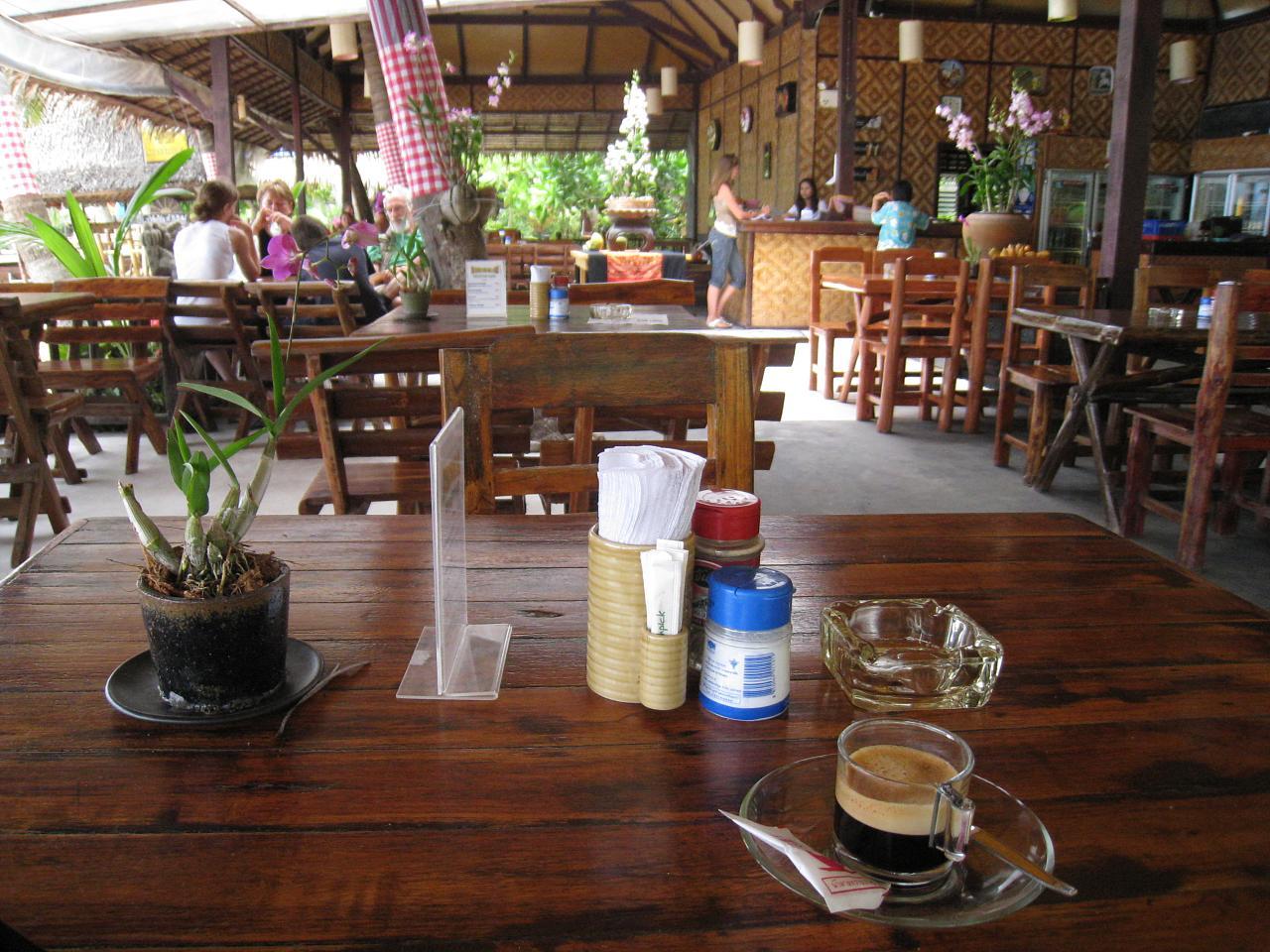Bungalow restaurant - Thong Nai Pan Noi (beach), Koh Phangan, Thailand