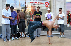 . (AFIK  BERLIN) Tags: shirtless berlin happy dance alexanderplatz hiphop breakdance sixpack guapos ragazzi berlinmitte  shabab  youngguys