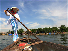 Taxi boat rower on the Perfume River (NaPix -- (Time out)) Tags: portrait woman river boats boat perfume vietnam explore hue perfumeriver rower boatpeople hu visiongroup napix taxirower