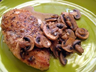 Mushroom Chicken a la Pinot Grigio