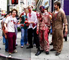 Even zombies have to wait for a red light