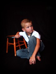Cody's photo shoot on black backdrop (Casey Keith) Tags: boy portrait child tie naturallight
