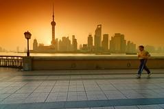 Olympic Spirit (cuellar) Tags: china city urban sport sunrise geotagged asia shanghai ciudad cuellar amanecer urbana olympic beijing2008 futuristic cokin futurista geo:lat=31238509 geo:lon=121486119 cuellar2008top20