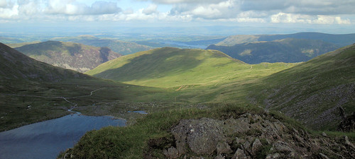 View from Helvellyn. Striding Edge, Lake District 4560