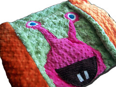 MONSTERLICIOUS SWIRL - Space Monster - Super Plush and Deluxe - Blanket or Throw - by Joey & Aleethea (joeyandaleethea) Tags: baby monster toddler child handmade boutique newborn babyshower chldren babyshowergift joeyandaleethea