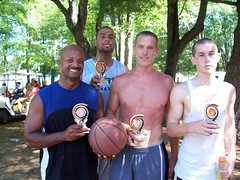 Adult 3 on 3 Basketball (Sandy Pines) Tags: county camping sports basketball day michigan labor tennis pines ping pong horseshoes hopkins allegan sandypines