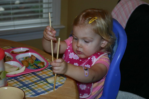 Using chopsticks