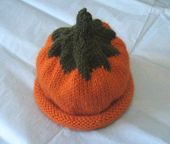 pumpkin hat for lisa's baby