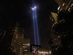 9-11-08 Tribute In Lights (Sister72) Tags: nyc blue newyork lights memorial remember 911 2008 september11th tributeinlights