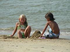 September at the beach (DenaVB) Tags: beach kids swimming sand ethan sunning kaiden