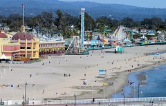 The Santa Cruz Boardwalk (cwgoodroe) Tags: california carnival blue wedding summer santacruz sun color beach water sand surf candy games boardwalk rollercoaster
