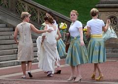So....where's the groom? (CVerwaal) Tags: nyc newyorkcity newyork canon bride centralpark bridesmaids bridesmaid brides weddings canong9